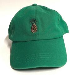City Hunter USA Pineapple Green Dat Hat Cap Adjustable Unise