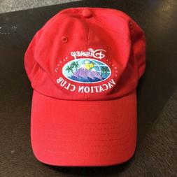 Disney Vacation Club Member Adult Baseball Hat Dad Cap Red A