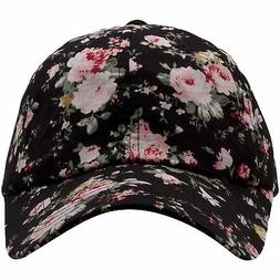 Wholesale  Floral Black  Dad Hat Foot Clan Custom