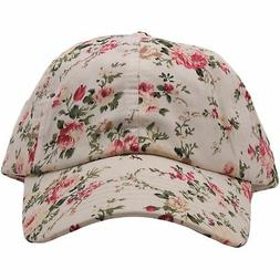 Wholesale  Off White Floral Blank Dad Hat foot clan