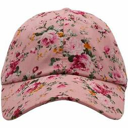 Wholesale  Pink Floral Blank Adjustable Dad Hat Foot Clan