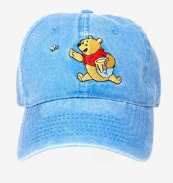 Disney Winnie The Pooh Denim Dad Cap Adjustable Blue Hat Cut