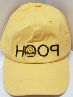 Disney Winnie The Pooh Yellow Strap Back Dad Hat New with Ta