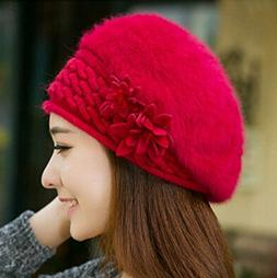 NEW Winter Warm Solid Color Angora Braided Baggy Crochet Kni