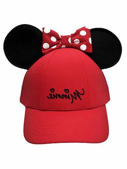 Women's Minnie Mouse Baseball Hat w/ Ears Red