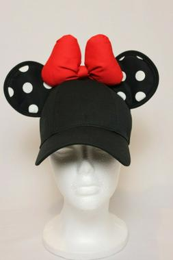 Disney Parks Women's Minnie Mouse Ear Baseball Hat/Cap Adult
