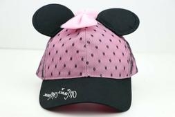 Women's Disney Parks Minnie Mouse Ears & Bow Black & Pink Ha