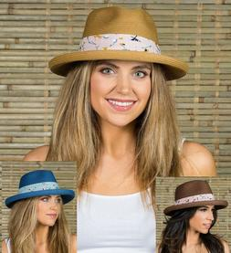Women's Summer Fedora Floppy Hats for Beach Camping Vacation