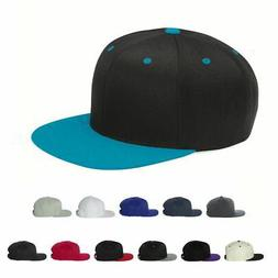 Flexfit Wool Blend Mens Hats Lids Flat Bill Snapback Cap 110