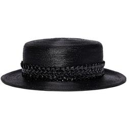 Gigi Burris Millinery 'Agnes' woven band coated straw boater