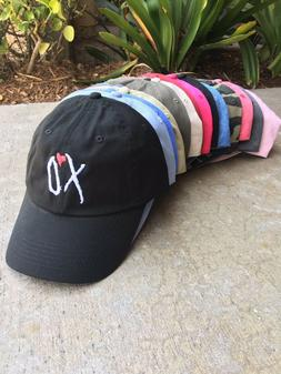xo custom unstructured embroidered dad hat adjustable