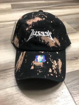 Yeezus Hat Glastonbury Unstructured Strap back Dad Cap Maroon Yeezy Acid Wash